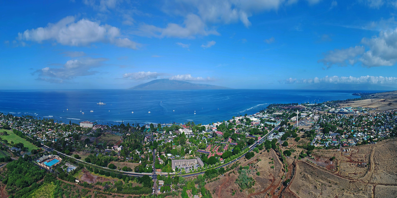"Drone Aerial Prints & More - ""Maui View to Lana'i"""