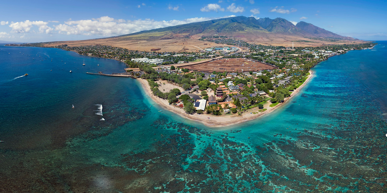 "Drone Aerial Prints & More - ""Baby Beach Panorama"" - Island of Maui - Joe West Photography"