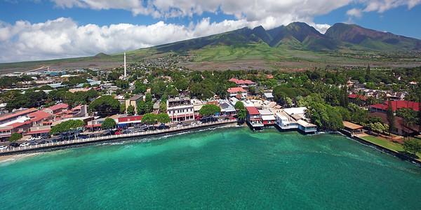 Drone Aerial Prints & More - Lahaina Panorama