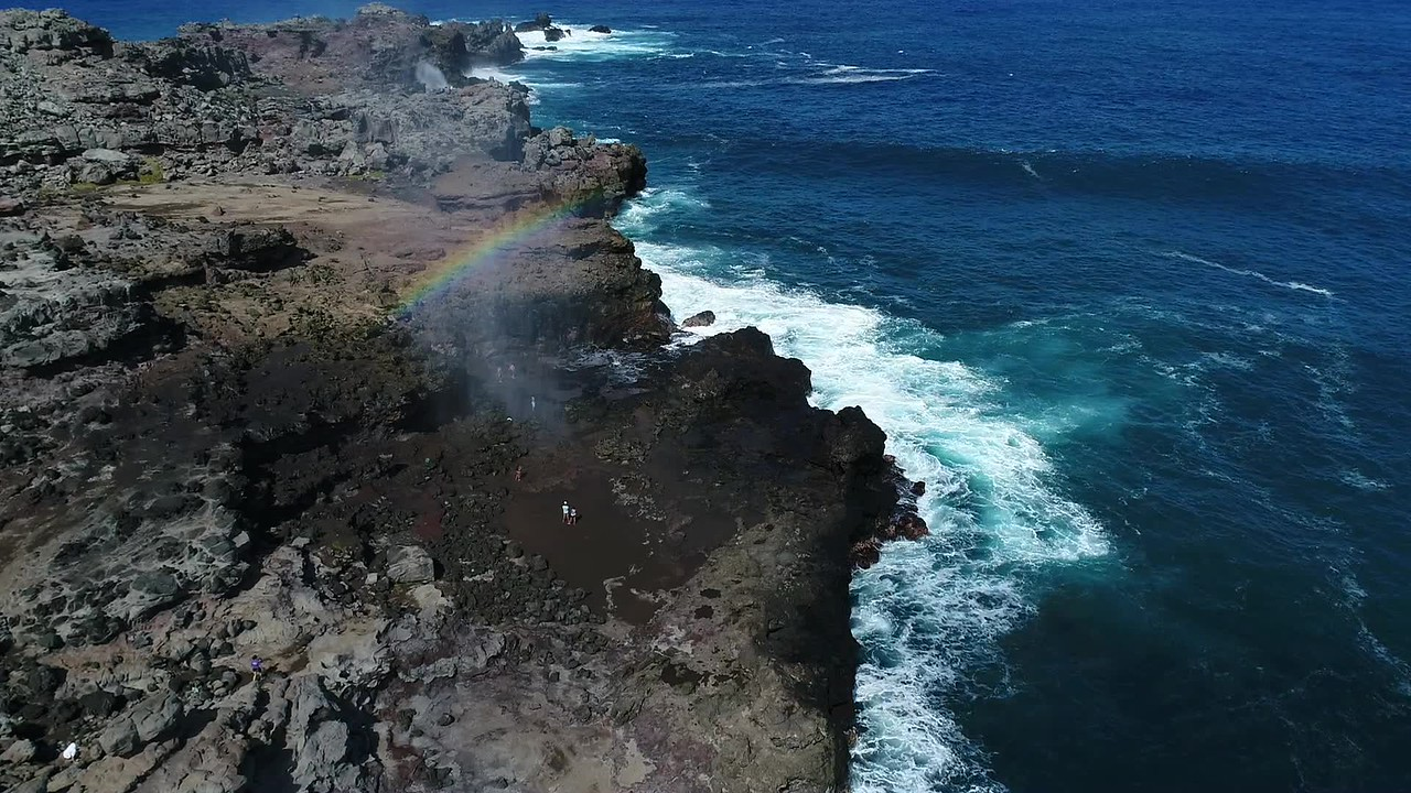 Nakalele Blowhole & Rainbow - Island of Maui - Hawaii | Joe West Photography