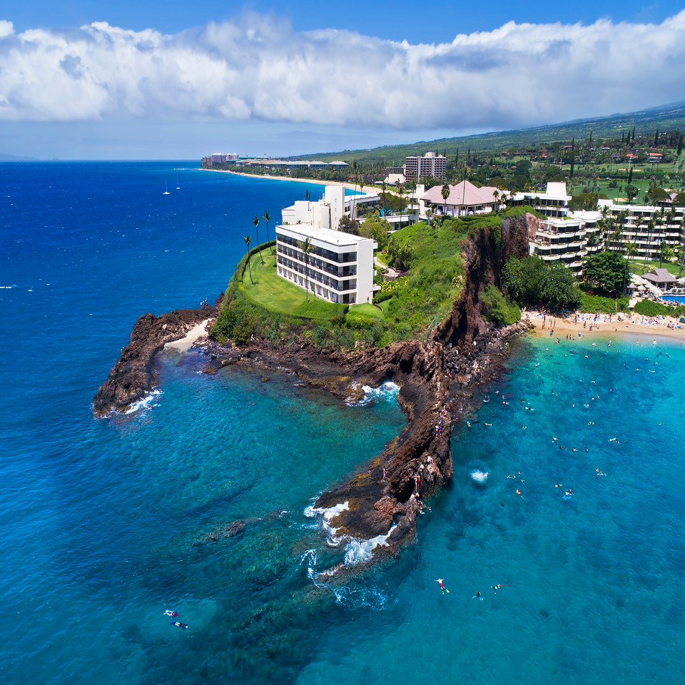 "Drone Aerial Prints & More - ""Black Rock Swim"" - Island of Maui, Hawaii"