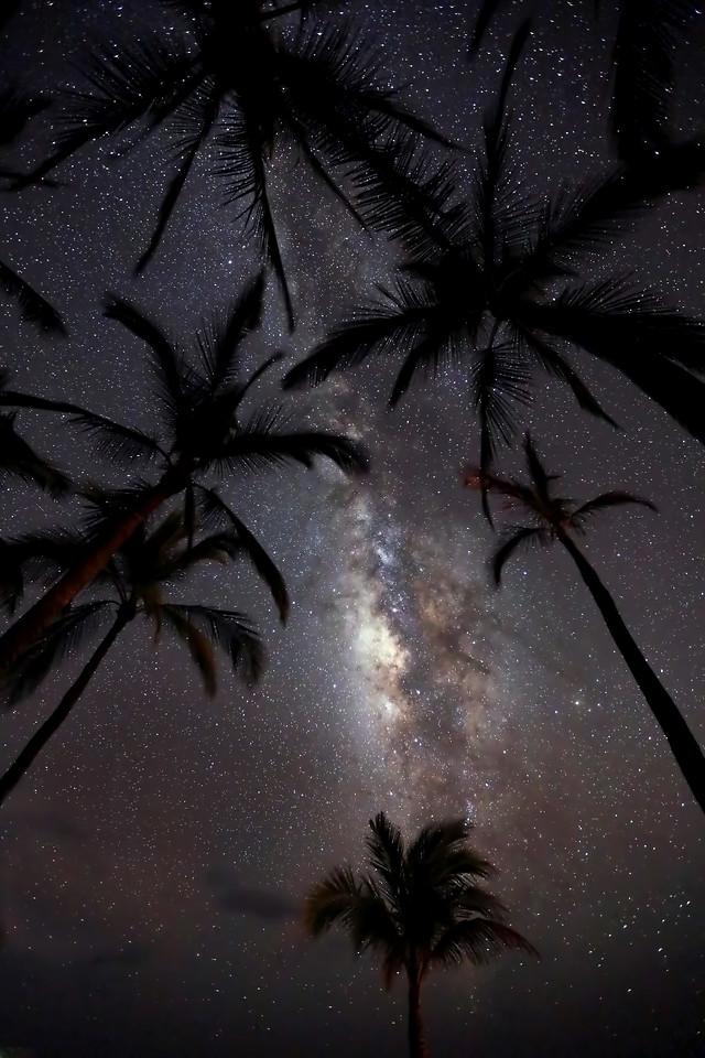 "Drone Aerial Prints & More - ""Milky Way Over Hulopo'e"" - Island of Lana'i, Hawaii"