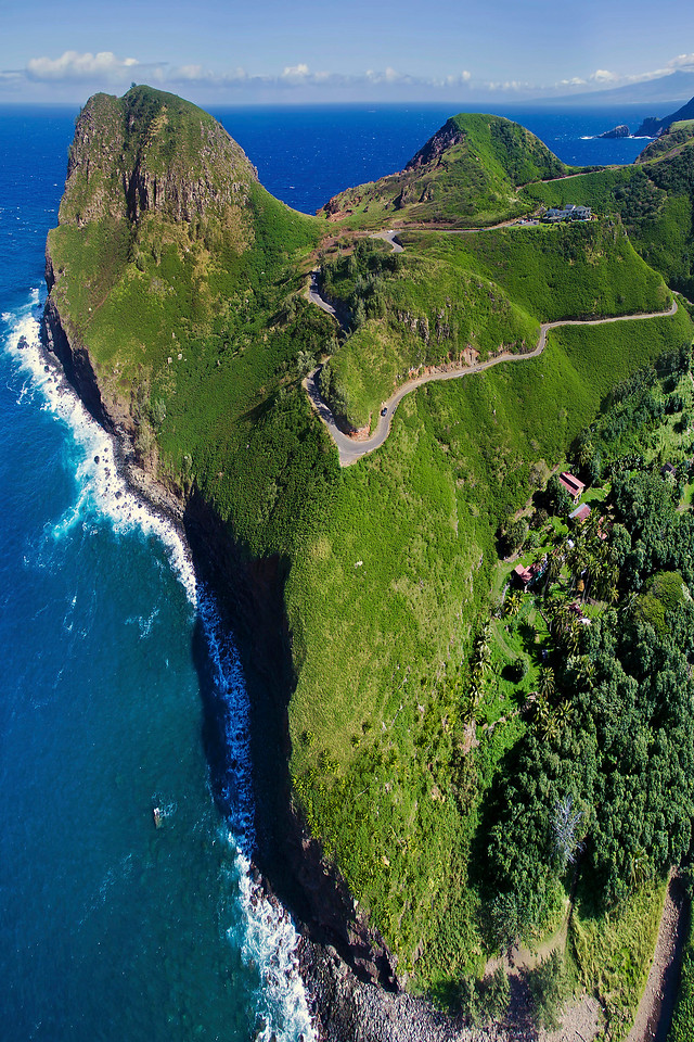 Drone Aerial Prints & More - Kahakuloa - Island of Maui, Hawaii