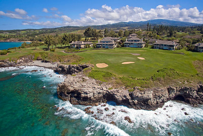 "Hawaii Drone Photography - ""Kapalua Bay Course - #5"" - Island of Maui, Hawaii"