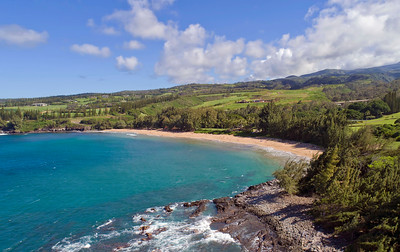 "Drone Aerial Prints & More - ""D.T. Fleming Beach"" - Island of Maui - Hawaii"