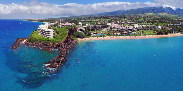 "Drone Aerial Prints & More - ""Pu'u Keka'a (Black Rock) - Ka'anapali Beach - Island of Maui, Hawaii"