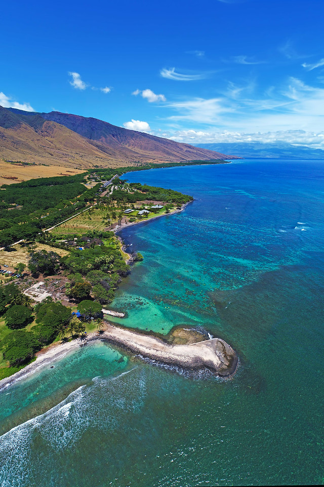 "Drone Aerial Prints & More - Olowalu Landing II"" - Island of Maui, Hawaii"
