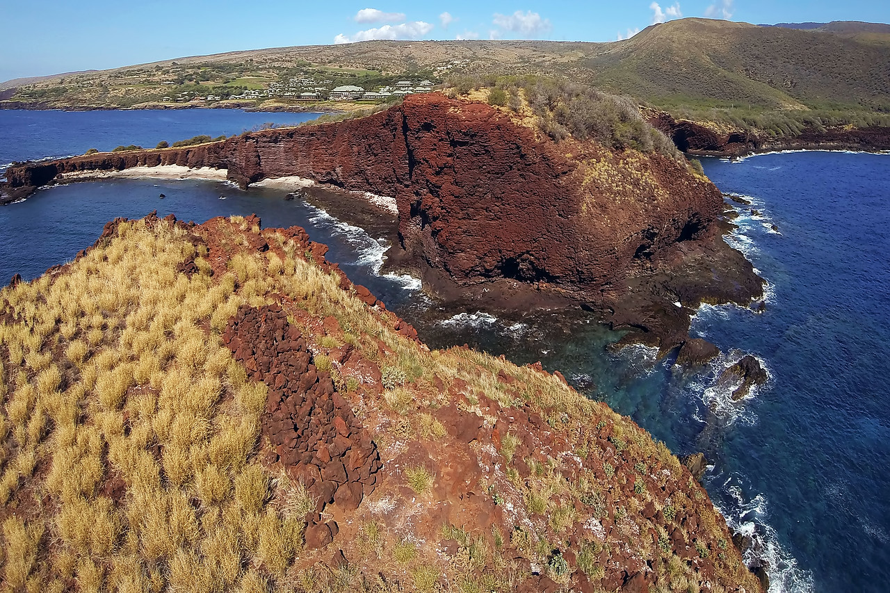 "Drone Aerial Prints & More - ""Pu'upehe Overview"" - Island of Lana'i, Hawaii"