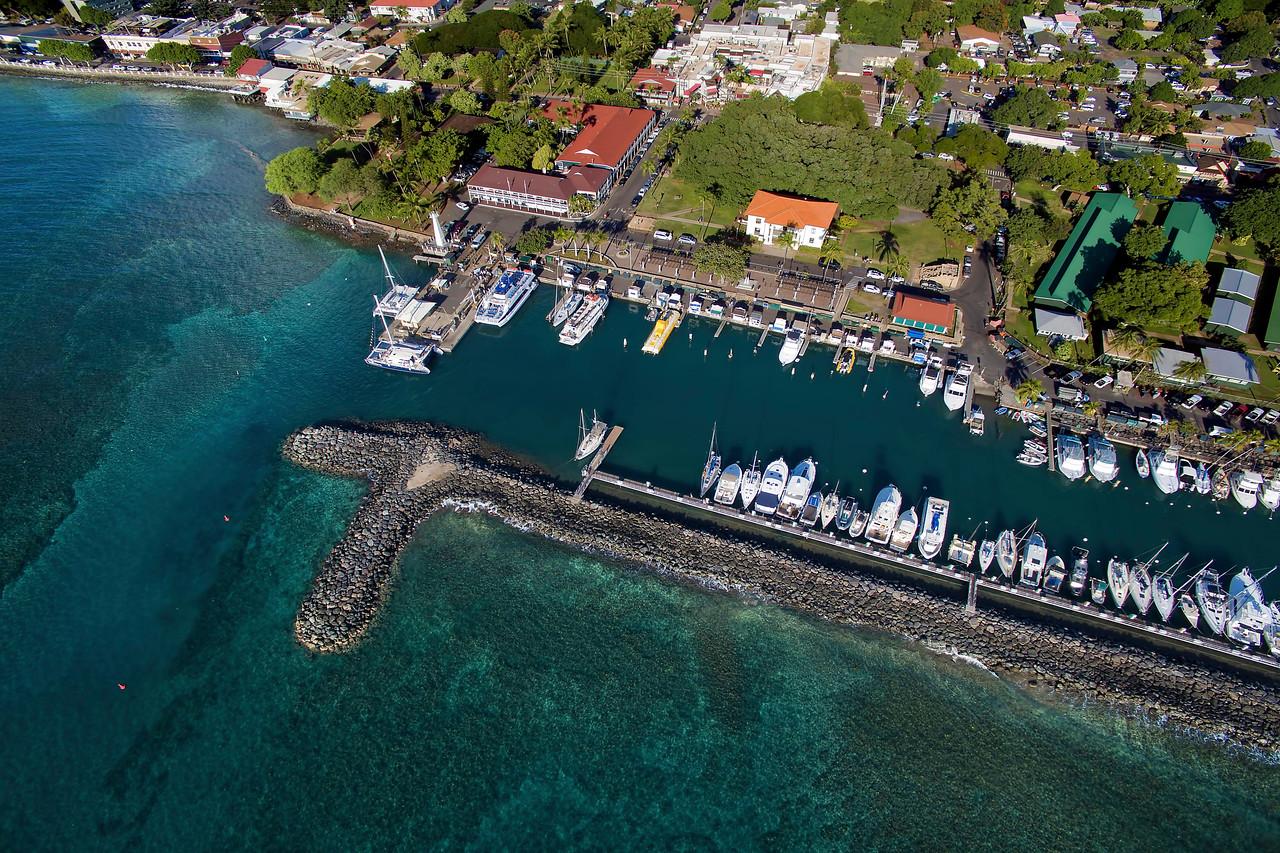 Drone Aerial Prints & More - Lahaina Harbor - Island of Maui, Hawaii