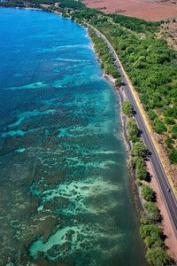 "Drone Aerial Prints & More - ""Olowalu Reef 1"" - Island of Maui, Hawaii"