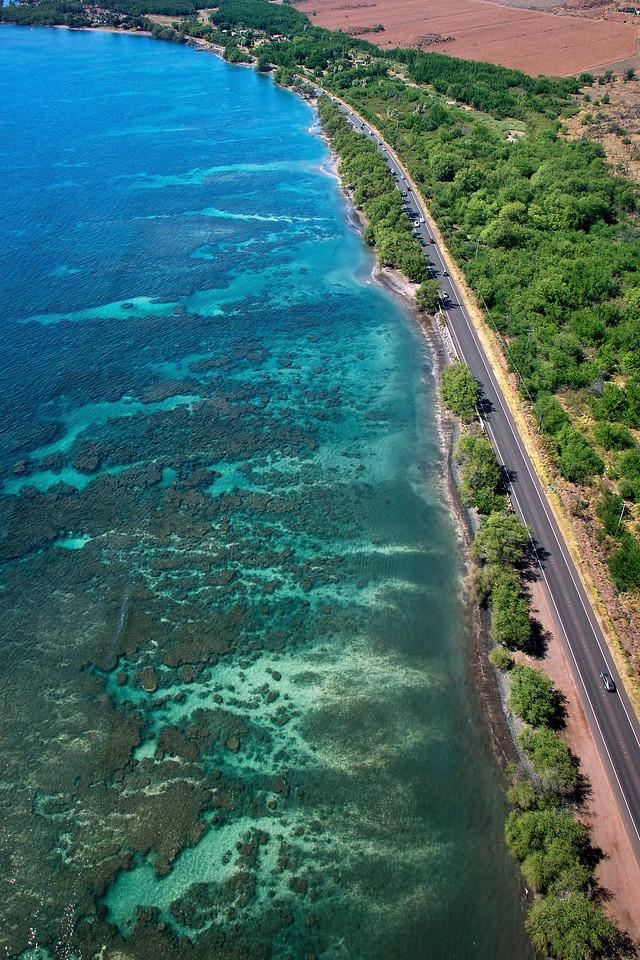 "Drone Aerial Prints & More - ""Olowalu Reef 1"" - Island of Maui, Hawaii"