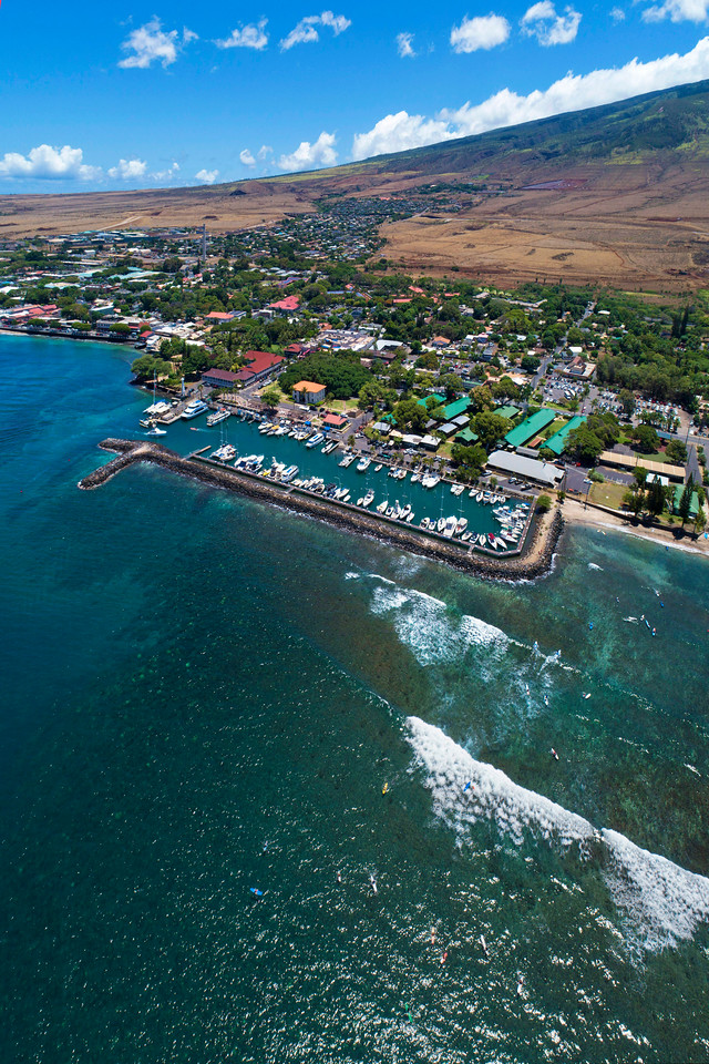 "Drone Aerial Prints & More - ""Lahaina Breakwater"" - Island of Maui, Hawaii"