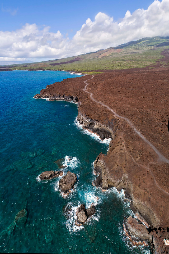 "Drone Aerial Prints & More - ""Hoapili Trail 1"" - Island of Maui, Hawaii"