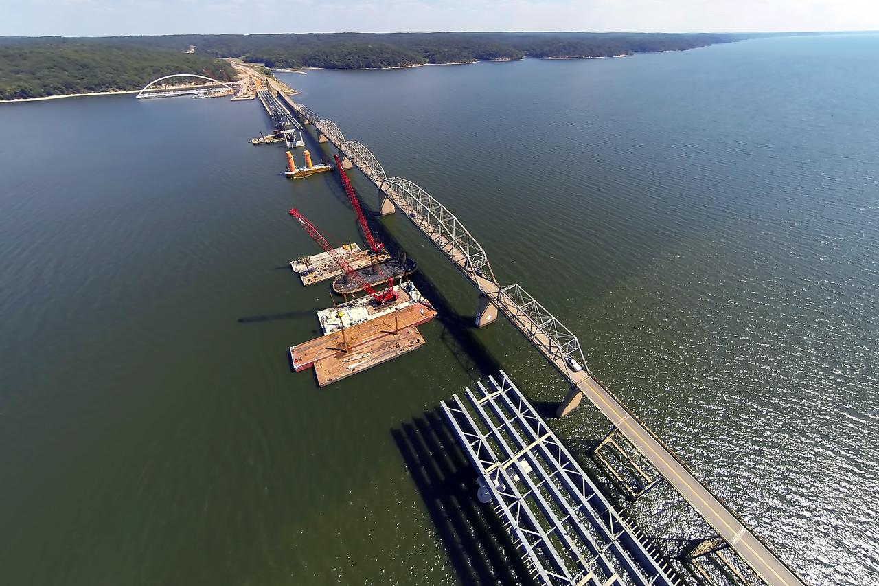 Drone Aerial Print - Eggner's Ferry Bridge - Last Days - Kentucky Lake