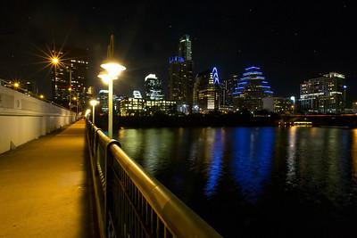 "Drone Aerial Prints & More - ""1st Steet Bridge"" - Austin, Texas - Joe West Photography"