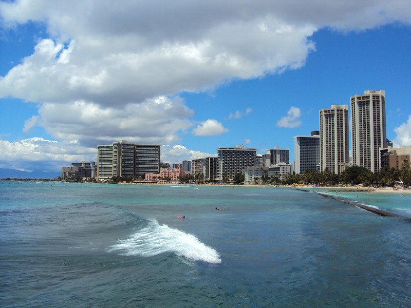 Wakiki Beach.  This is where my hotel was.