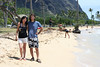 pato and monica at kualoa beach park