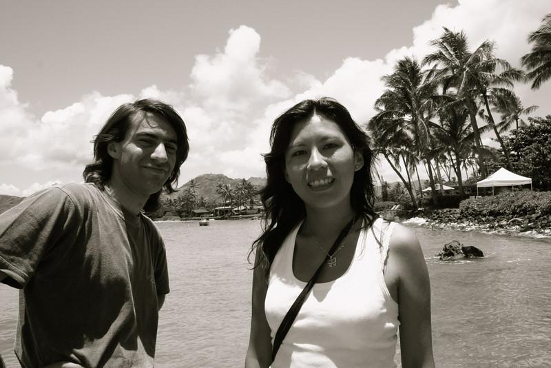 patricio (pato) and monica at the honu bay