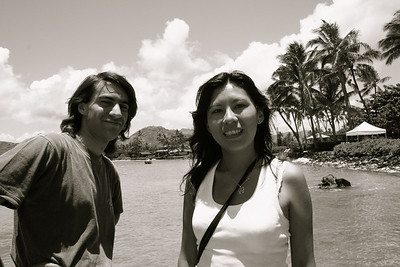 patricio (pato) and monica at the honu bay