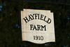 Hayfield  Farm Sign