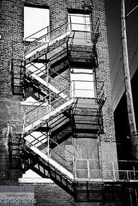fire escape bw-8637
