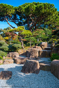 Japanese garden designed by Kimio Kimura, Hayward, California.