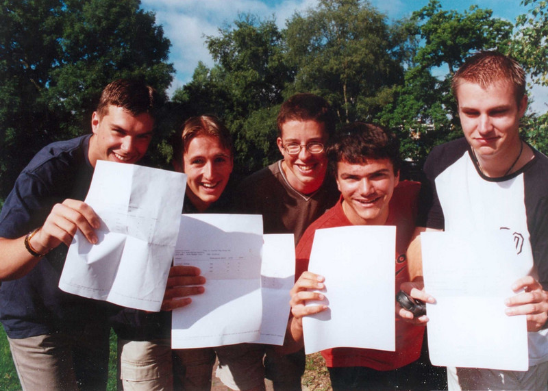 After exams: Richard, Adam, Andy, Matthew, Barry