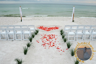 Streamers: Filled Heart, Coral Rose Petals