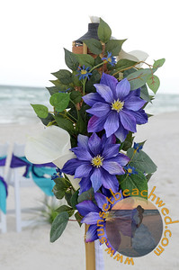 Purple Flower & Calla Lily Tiki Arrangements