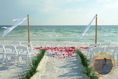 Streamers shown with no Heart in the Sand and Light Red Rose Petals