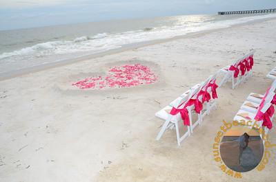 Filled Heart, Pink Rose Petals