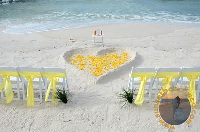 Filled Heart, Yellow Rose Petals