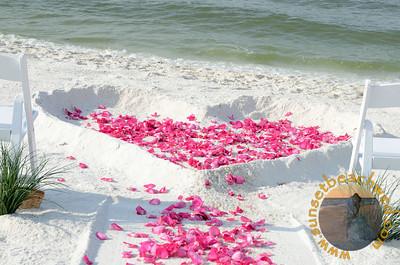 Filled Heart, Hot Pink (Fuchsia) Rose Petals
