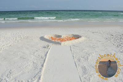Filled Heart, Orange Rose Petals