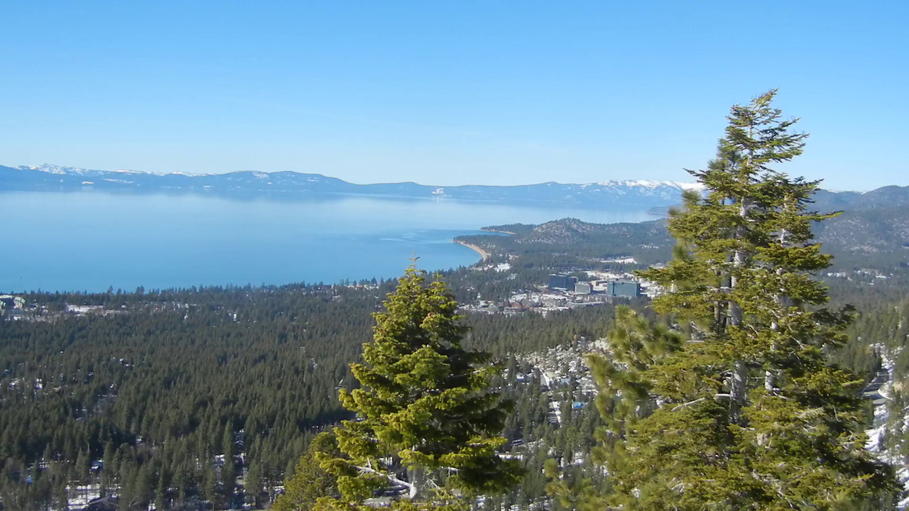 Chairlift ride down Gunbarrel at Heavenly with Colleen Creamer.  Spectacular views of Lake Tahoe.
