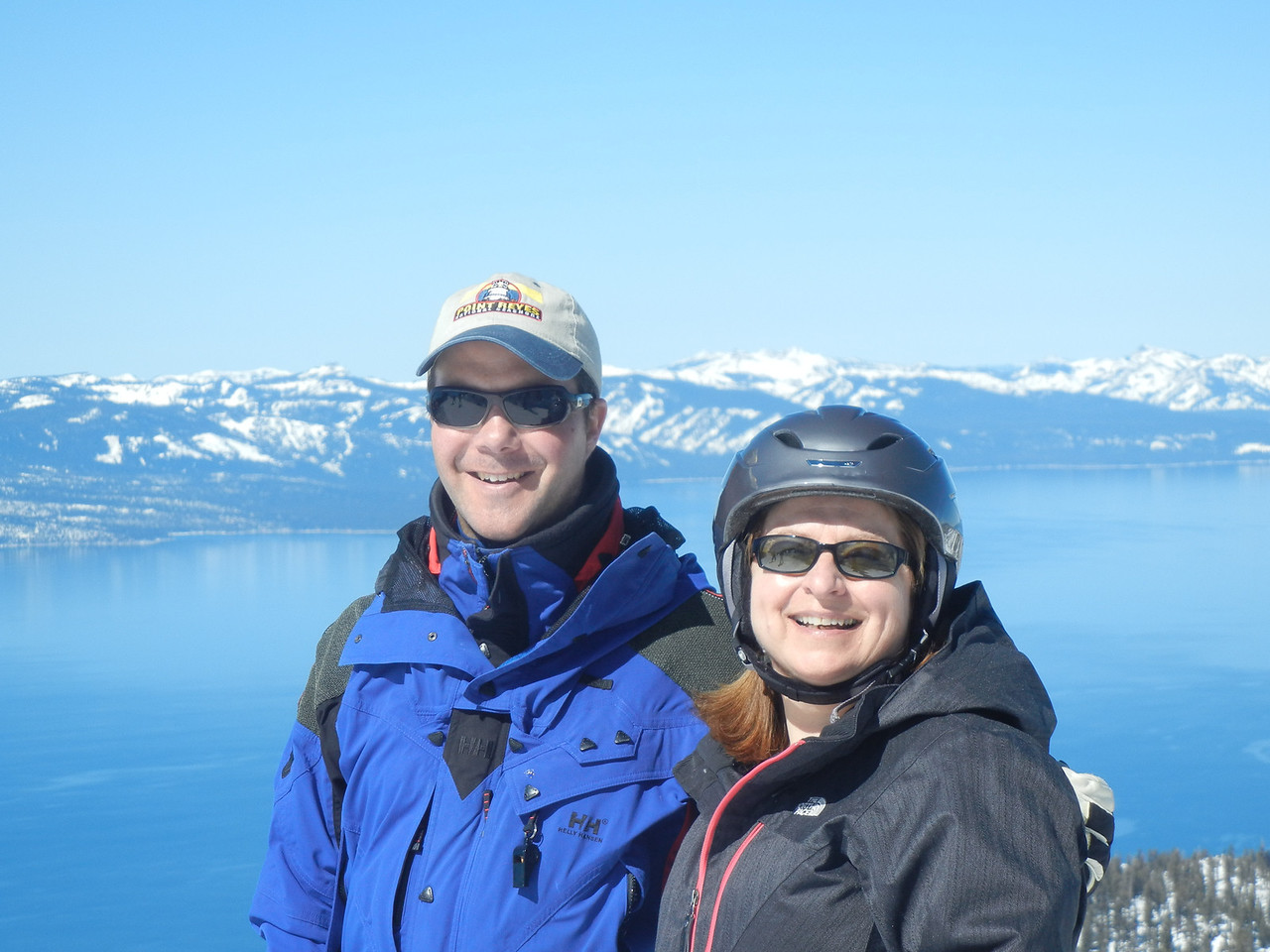 My friend Colleen Creamer and me at the top of Heavenly in March.