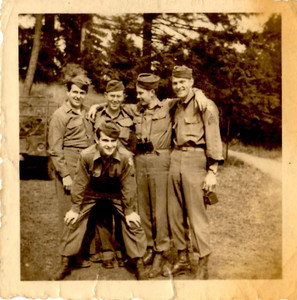 Dad with Army buddies in Kusel, Germany WWII.