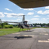 R22 takes off in the next parking space.