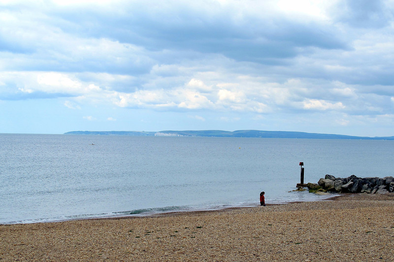Looking from Hengistbury Head accross Poole Bay towards Purbeck.