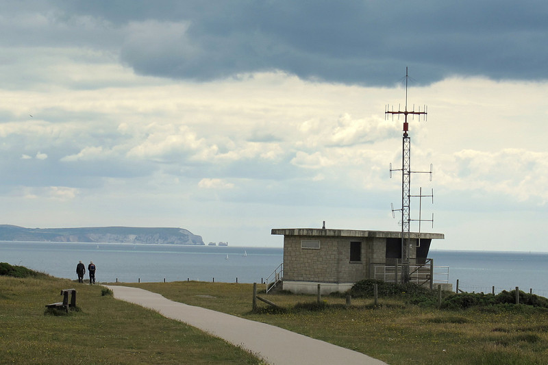 The Coastwatch Station with the IoW and Needles beyond