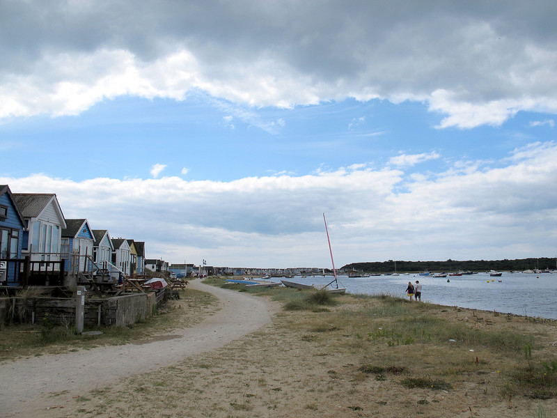 Hengistbury Head from the end of the spit.
