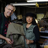 """Ready to hoist this food pack onto a Bear - Hang.   I was glad to get the pack repaired in short time and having the privilege to watch Florencia work.  I hope you will too.  See website:   <a href=""""http://www.henrysshoerepair.com"""">http://www.henrysshoerepair.com</a> ,  or call ahead 218-365-7454 weekends, and 218-365-4836 everyday.  Join us on our next report of the """"Folks around the Boundary Waters."""""""