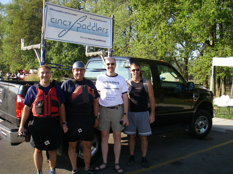 Ken (creator of the banner), Denny, Fred and Dan (king of the GM)