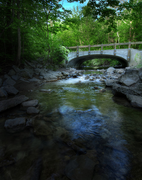 Lawarence Creek Bridge in Fort Harrison State Park