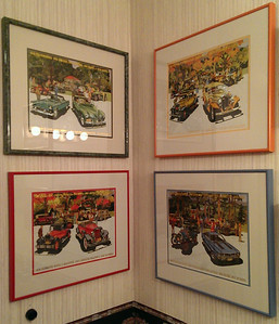 Great, professionally framed car prints