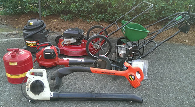 Murray mower, Craftsman 205 m.p.h. gas blower, Craftsman corded blower, Craftsman edger/tiller