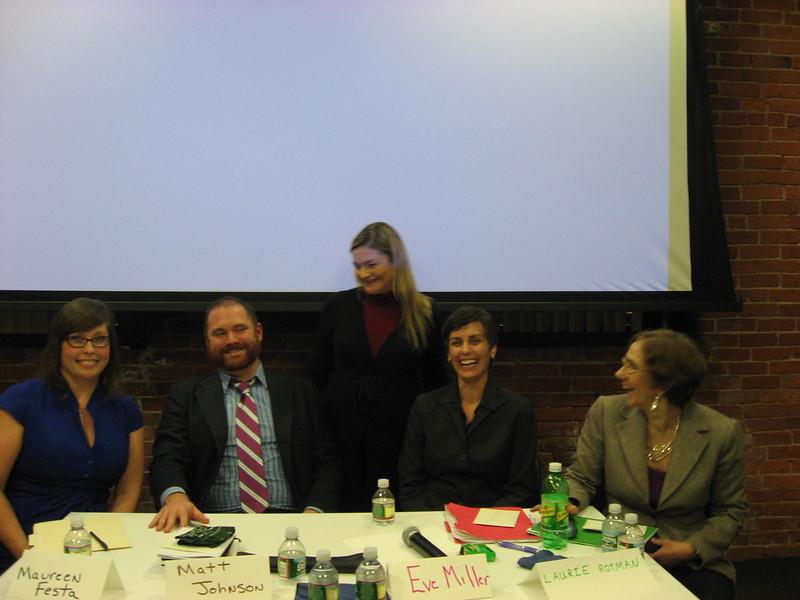 Panelists (l-r) - Maureen Festa, Matt Johnson, Paula Maloney, Eve Miller, Laurie Rotman