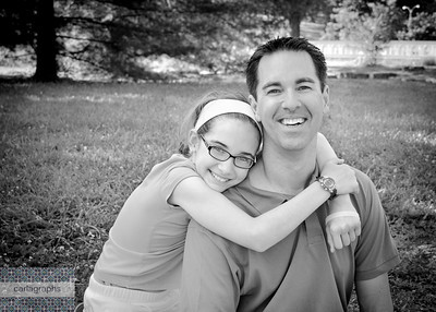 Father and Daughter bw-2555