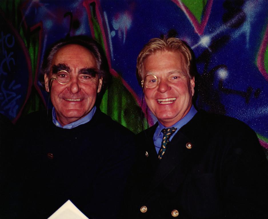 Dr. Robert Küderli and Victor Erdmann, Palace Hotel, St. Moritz.