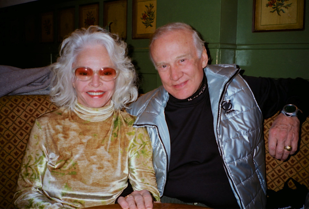 Astronaut Buzz Aldrin & then-wife Lois Driggs Cannon. The Olden, Gstaad.
